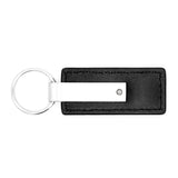 Blank Promotional Keychain & Keyring - Premium Black Leather