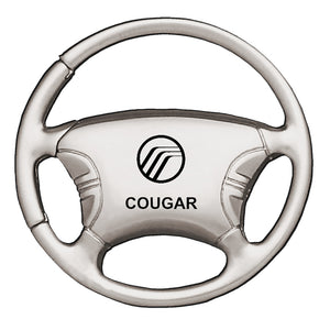 Mercury Cougar Keychain & Keyring - Steering Wheel