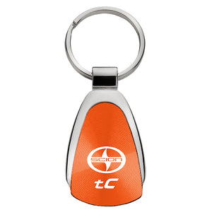 Scion tC Keychain & Keyring - Orange Teardrop