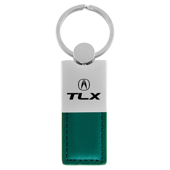 Acura TLX Keychain & Keyring - Duo Premium Green Leather