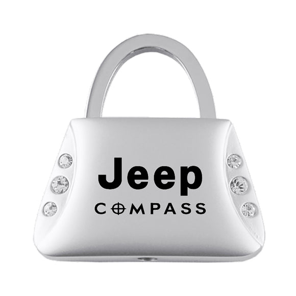 Jeep Compass Keychain & Keyring - Purse with Bling