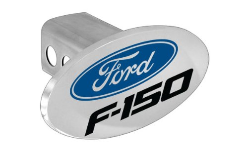 Ford F-150 Metal Trailer Hitch Cover Plug (Ford Logo)