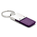 Dodge Stripe Keychain & Keyring - Duo Premium Purple Leather