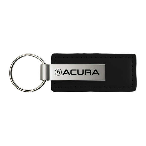 Acura Keychain & Keyring - Premium Black Leather