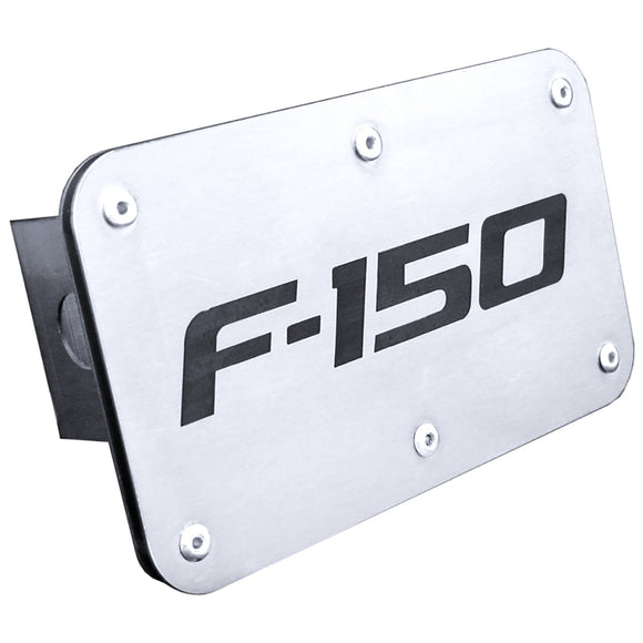 Ford F-150 Laser Etched Hitch Plug - Brushed Stainless