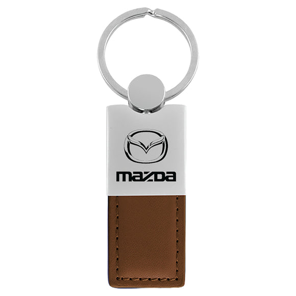 Mazda Keychain & Keyring - Duo Premium Brown Leather
