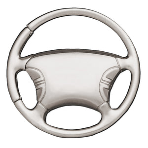 Metal Promotional Keychain & Keyring - Steering Wheel
