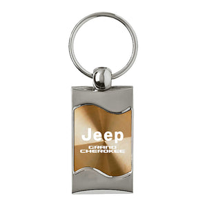 Jeep Grand Cherokee Keychain & Keyring - Gold Wave