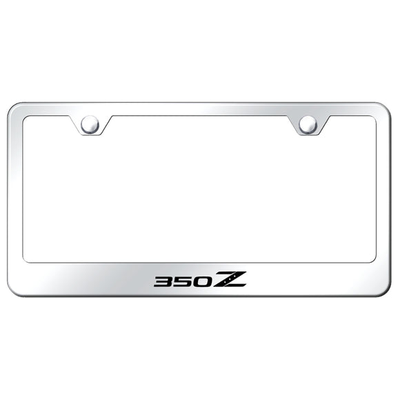 Nissan 350Z Mirrored License Plate Frame