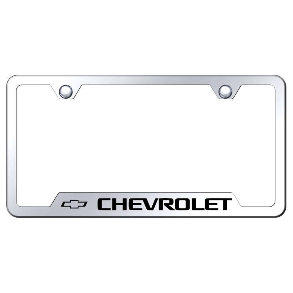 Chevrolet License Plate Frame Laser Etched Cut Out Frame