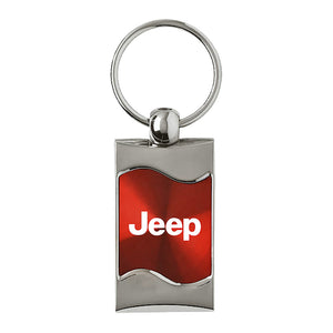 Jeep Keychain & Keyring - Red Wave