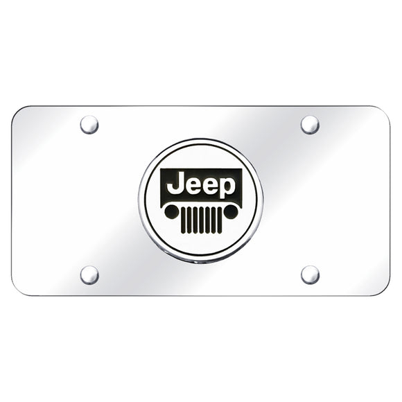 Jeep Logo Chrome on Chrome Plate