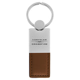 Chrysler Crossfire Keychain & Keyring - Duo Premium Brown Leather
