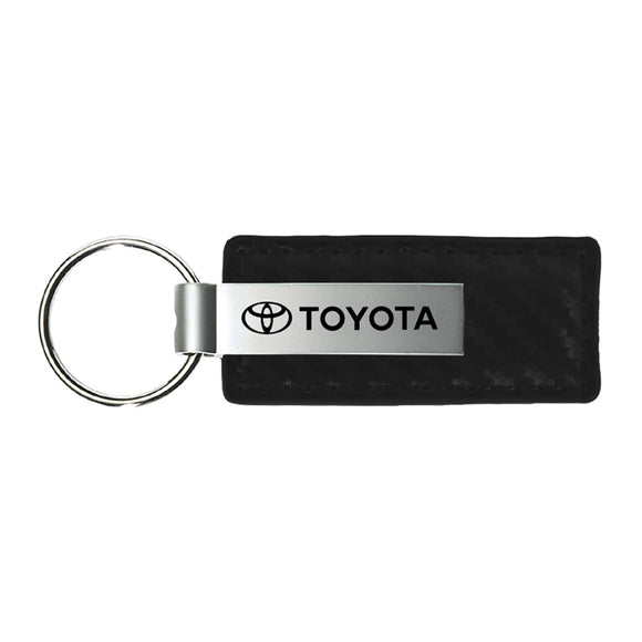Toyota Keychain & Keyring - Carbon Fiber Texture Leather