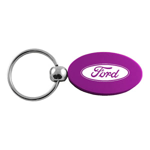 Ford Keychain & Keyring - Purple Oval