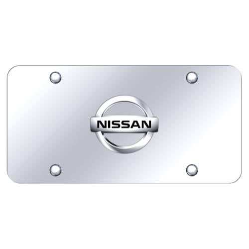 Nissan Logo Chrome on Chrome Plate