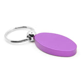Dodge Stripe Keychain & Keyring - Purple Oval