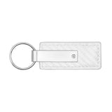 Toyota Land Cruiser Keychain & Keyring - White Carbon Fiber Texture Leather