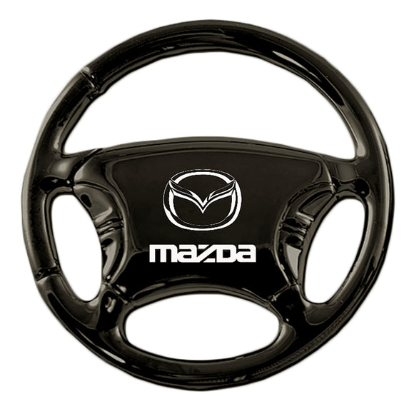 Mazda Keychain & Keyring - Black Steering Wheel