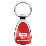 Jeep Gladiator Keychain & Keyring - Red Teardrop