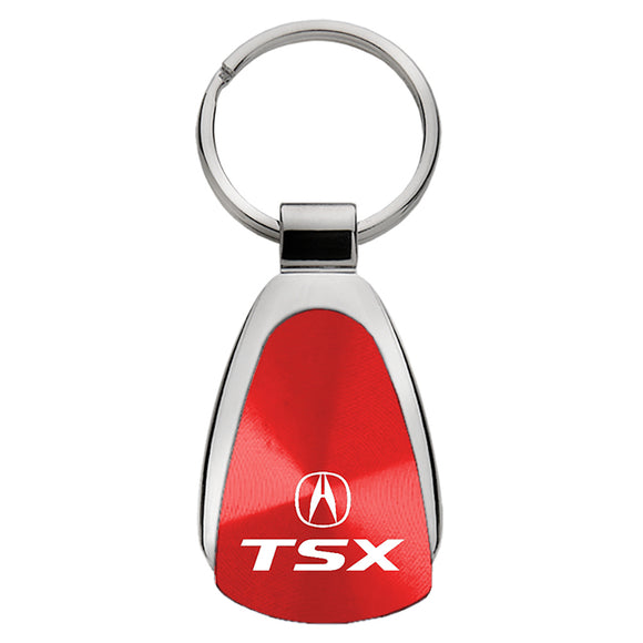 Acura TSX Keychain & Keyring - Red Teardrop