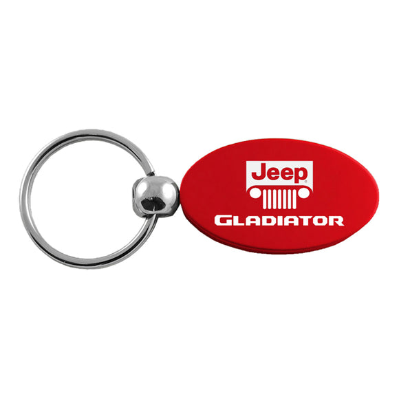 Jeep Gladiator Keychain & Keyring - Red Oval