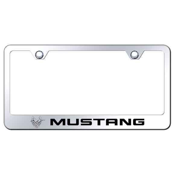 Ford Mustang 45th Anniversary Polished Steel License Frame