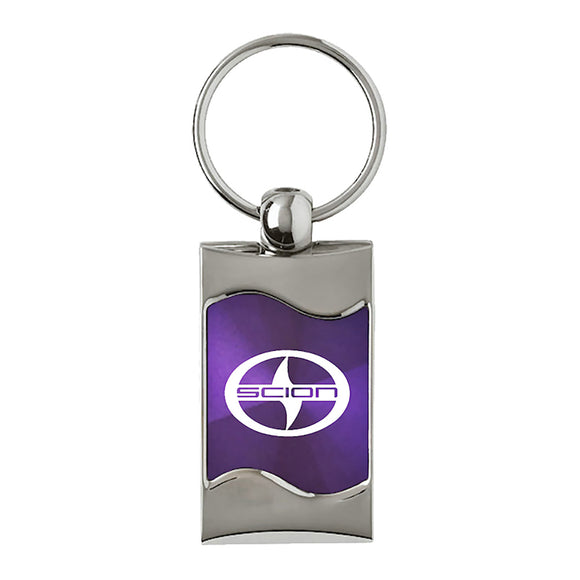 Scion Keychain & Keyring - Purple Wave