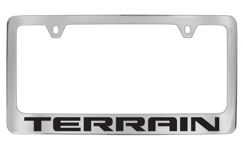 GMC Terrain Chrome Plated Metal License Plate Frame Holder