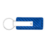 Mopar Keychain & Keyring - Blue Carbon Fiber Texture Leather