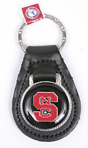 North Carolina State Wolfpack Keychain & Keyring - Leather