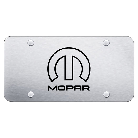 Mopar (Reversed) Laser Etched Brushed Stainless Steel Plate