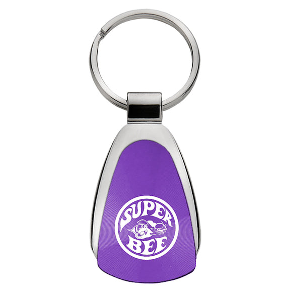 Dodge Super Bee Keychain & Keyring - Purple Teardrop