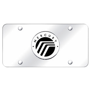 Mercury Logo on Chrome License Plate