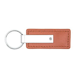 Dodge RAM Keychain & Keyring - Brown Premium Leather