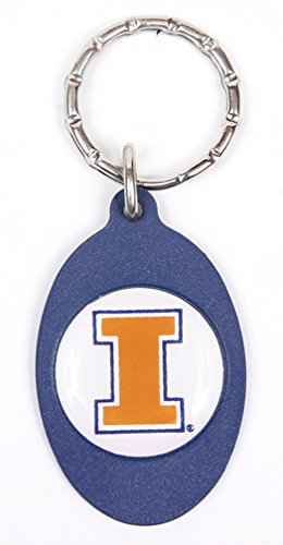 Illinois Fighting Illini Keychain & Keyring - Oval