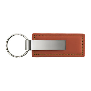 Blank Promotional Keychain & Keyring - Brown Premium Leather