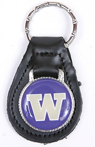 Washington Huskies Keychain & Keyring - Leather