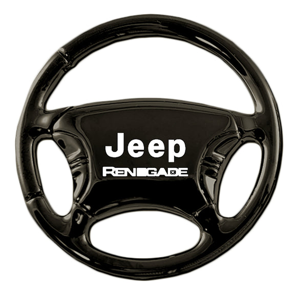 Jeep Renegade Keychain & Keyring - Black Steering Wheel