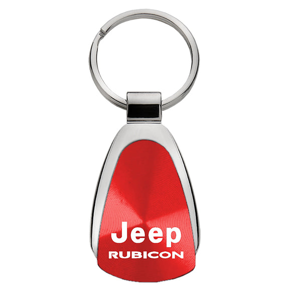 Jeep Rubicon Keychain & Keyring - Red Teardrop