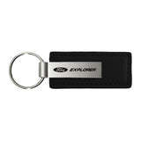 Ford Explorer Keychain & Keyring - Premium Black Leather