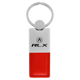Acura RLX Keychain & Keyring - Duo Premium Red Leather