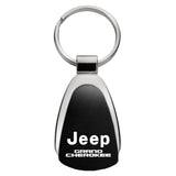 Jeep Grand Cherokee Keychain & Keyring - Black Teardrop