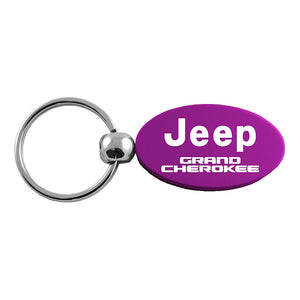 Jeep Grand Cherokee Keychain & Keyring - Purple Oval