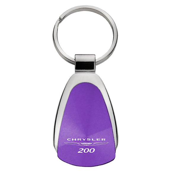 Chrysler 200 Keychain & Keyring - Purple Teardrop