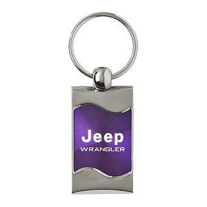 Jeep Wrangler Keychain & Keyring - Purple Wave