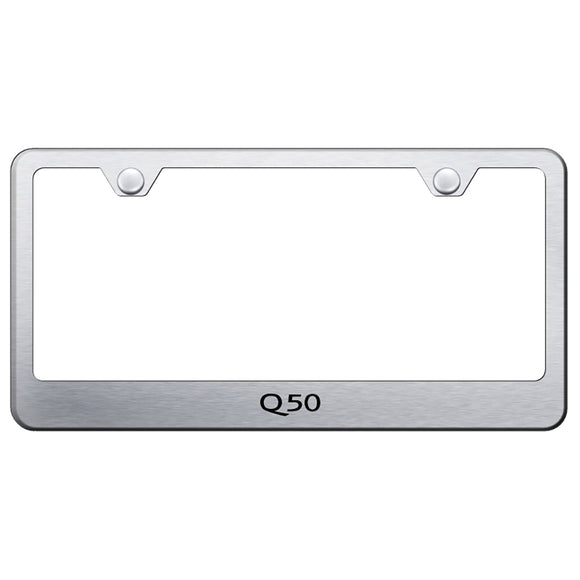 Infiniti Q50 Brushed License Plate Frame