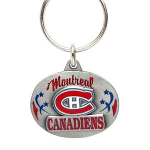 Enameled NHL Key Ring - Montreal Canadiens