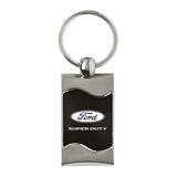 Ford Super Duty Keychain & Keyring - Black Wave