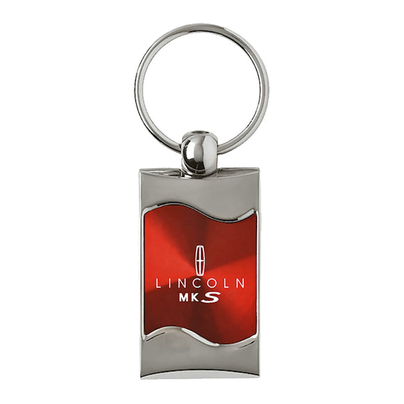Lincoln MKS Keychain & Keyring - Red Wave